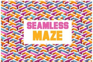 24 Seamless Maze patterns