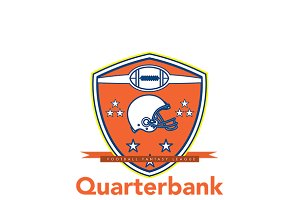 Quarterbank American Football Logo