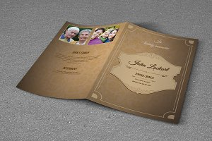 Funeral Program Template-T519