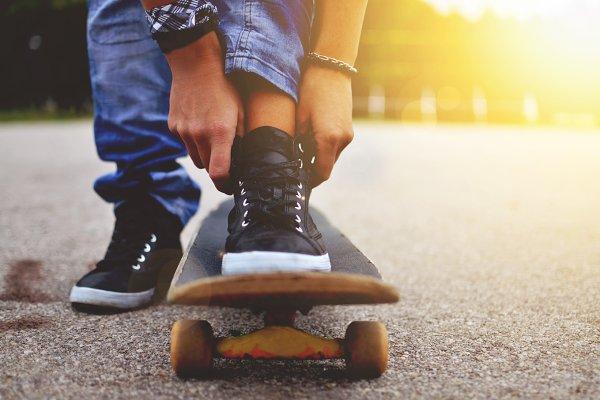 Skateboard close up