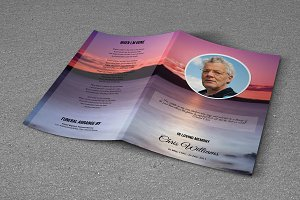 Funeral Program Template-T521