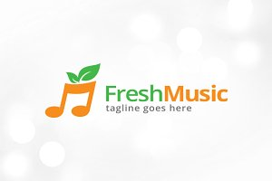 Fresh Music Logo Template