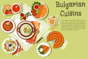 Festive bulgarian dishes