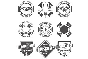 giroskuter labels vector