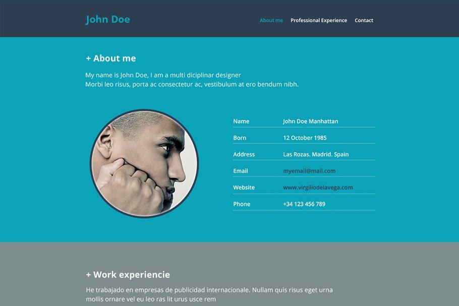 Resume Website PSD Mockup Templates Creative Market