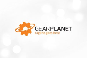 Gear Planet Logo Template