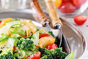 Summer vegetables salad