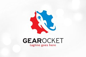 Gear Rocket Logo Template