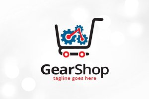 Gear Shop Logo Template