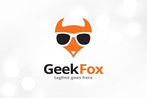 Geek Fox Logo Template