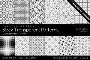 Black Transparent Digital Papers