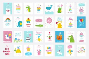 31 Cute Birthday card