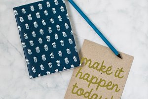Styled Stock Photo Notebook