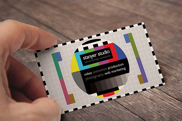 Video producer business card business card templates creative market video producer business card maxwellsz