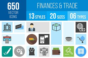 650 Finances & Trade Icons