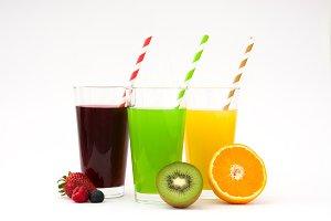 Fresh fruit smoothies isolated