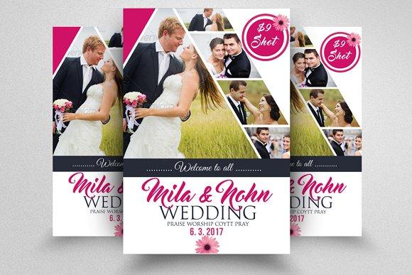 elegant wedding flyer template flyer templates creative market