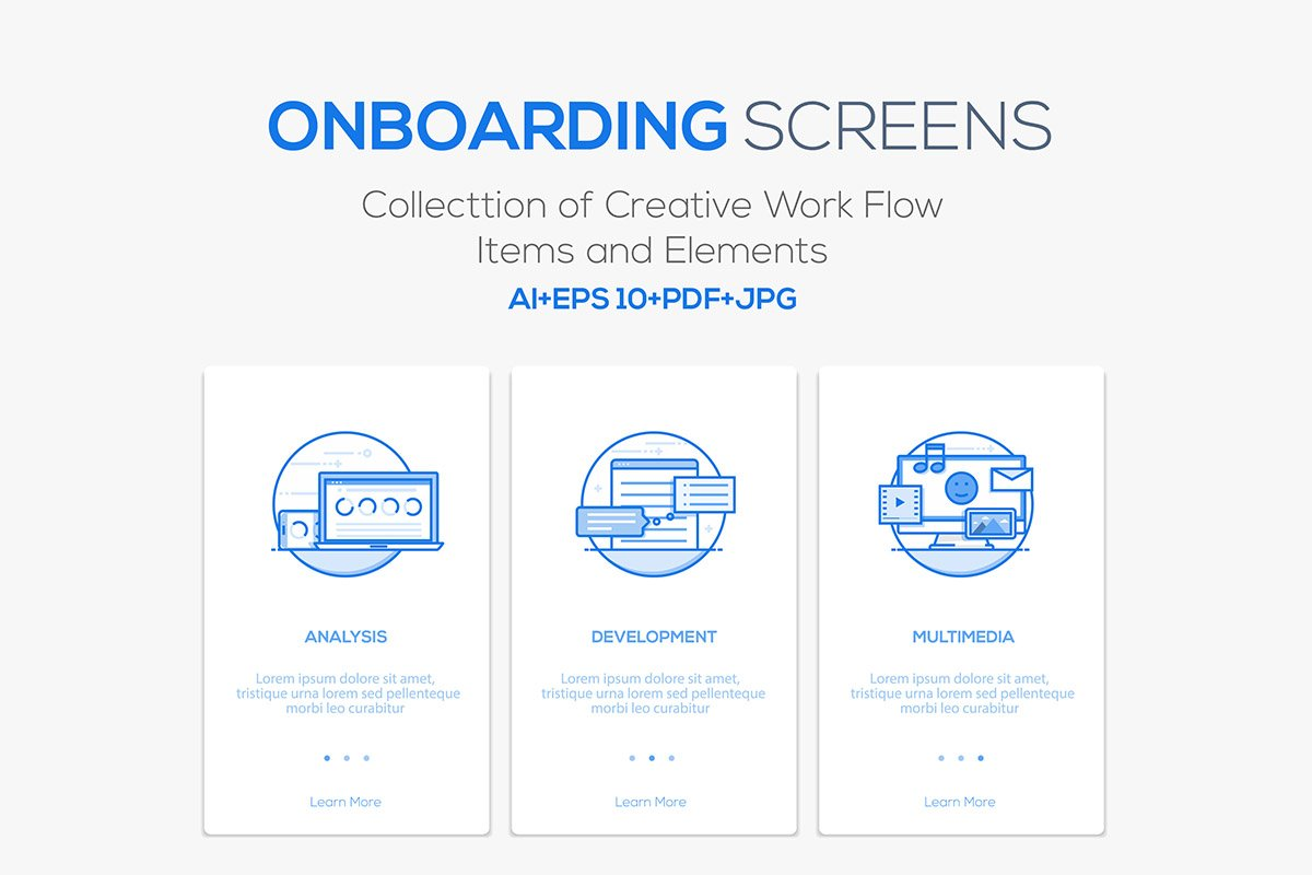 Circuit Board Vector Ai Pdf Free Graphics Download Onboarding Screens For App Illustrations Creative Market