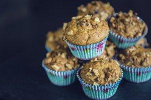 homemad bakery walnut muffin