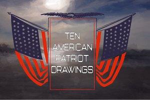 10 Vintage American Flags