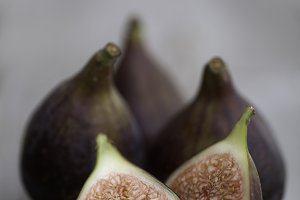 Figs on a Rustic Wooden Table