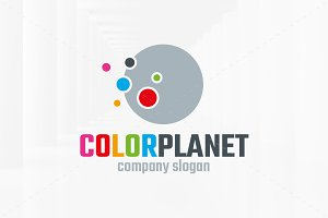 Color Planet Logo Template