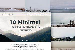 10 Website Header Photos (MINIMAL 2)