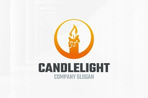 Candle Light Logo Template