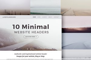 10 Website Header Photos (MINIMAL 1)