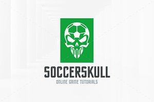 Soccer Skull Logo Template