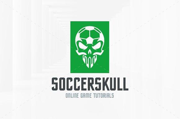 soccer skull logo template logo templates creative market