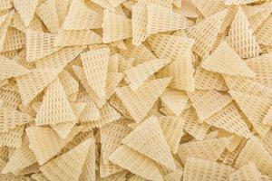 triangle shape dry pasta