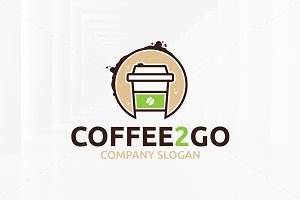 Coffee 2 Go Logo Template