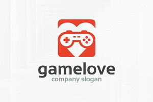 Game Love Logo template