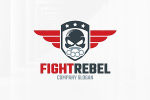 Fight Rebel Logo Template