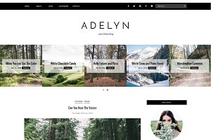 Blogger Template Responsive - ADELYN