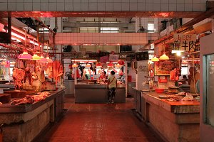 Macao Red Market butcher