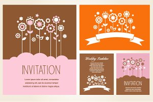 Invitation and greeting card set