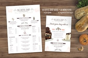 Coffee Menu and Coffee Flyer