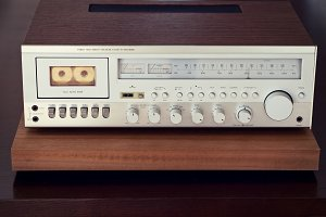 Cassette Deck Stereo Receiver Front