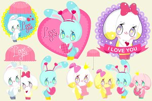 Cute Bunnies set