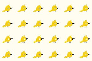 Baby birds pattern