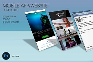 Mobile App / Website 3D Mockup