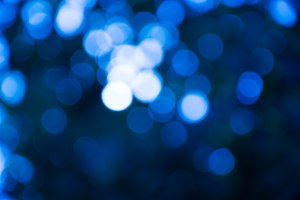 Blue blur light bokeh background