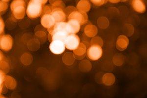 Orange blur light bokeh background