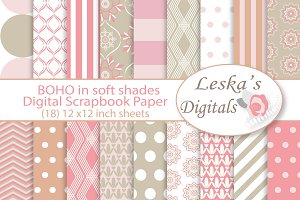 Boho Pattern Design - Digital Paper
