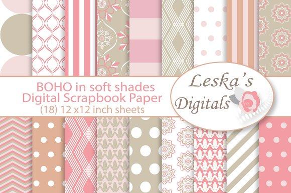 Boho Pattern Design - Digital Paper