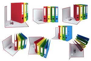 Set office folders, isolated