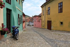 Colored Streets of Sighisoara