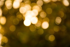 Golden blur bokeh background